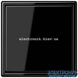 """Клавишный диммер """"стандарт"""" ЛН, ВВ галог. 20-210Вт / люминисц., LV-LED 3-60Вт JUNG LS990 черный глянец"""