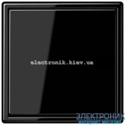 """Клавишный диммер """"универсал"""" ЛН, ВВ галог. 20-420Вт / люминисц.  3-100Вт, LED 100/200Вт JUNG LS990 черный глянец"""