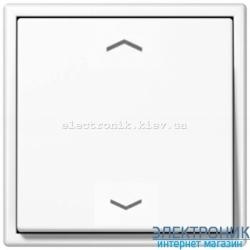 """Клавишный диммер """"стандарт"""" ЛН, ВВ галог. 20-210Вт / люминисц., LV-LED 3-60Вт  JUNG LS990 белый"""