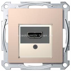 Розетка HDMI , цвет Шампань, Schneider Merten D-Life