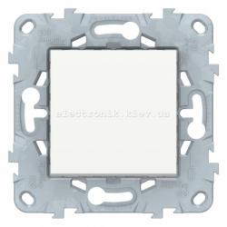 Выключатель 1-клавишный, Белый, серия Unica New