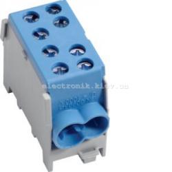 Модульная вводная 1-полюсная клемма 2x35/2x25, 63А, синяя Hager
