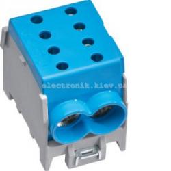 Модульная вводная 1-полюсная клемма 2x70?/2x50?, 160А, синяя, Hager