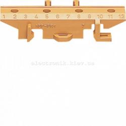 Пластиковий кронштейн на TS-шину для клем, коричневый Hager