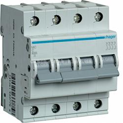 Выключатель автоматический Hager 4P C 6А MC406A