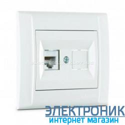 Makel Defne Белый Розетка компьютерная одинарная (RJ45 Cat5e)