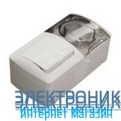 Выключатель двойной с подсветкой + Розетка с заземлением