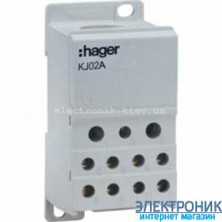 Распределительный блок 1-пол, 250A, Hager KJ02A
