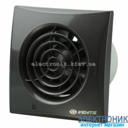 Вентилятор на подшипниках Вентс 100 Квайт Черный, оборудован обратным клапаном