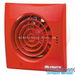 Вентилятор на подшипниках Вентс 100 Квайт Красный, оборудован обратным клапаном