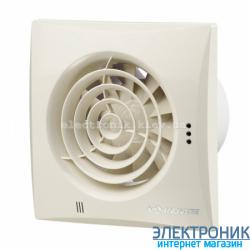 Вентилятор на подшипниках Вентс 100 Квайт Бежевый, оборудован обратным клапаном