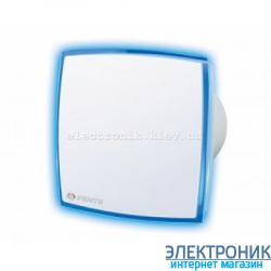 Вентилятор Вентс 100 ЛД Лайт. С синей светодиодной подсветкой.