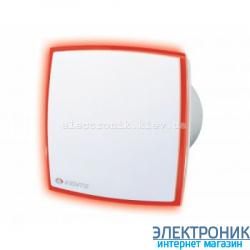 Вентилятор Вентс 125 ЛД Лайт. С красной светодиодной подсветкой.