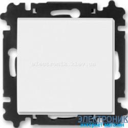 Выключатель/переключатель 1-клав., проходной безвинтовые зажимы ABB Levit белый/ледяной