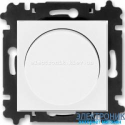 Cветорегулятор поворотный 60-600Вт  ABB Levit белый/ледяной