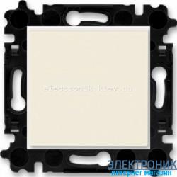 Выключатель/переключатель 1-клав., проходной безвинтовые зажимы ABB Levit слоновая кость/белый