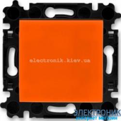 Переключатель 1-клав., перекрестный  безвинтовые зажимы ABB Levit оранжевый/дымчатый