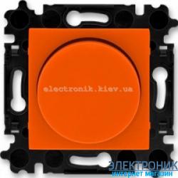 Cветорегулятор 2-400Вт светодиодный LED-Dimmer ABB Levit оранжевый/дымчатый