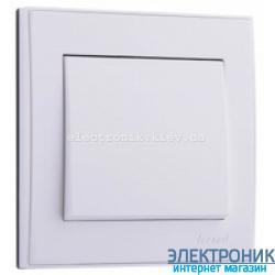 Выключатель 1-кл, белый Lezard RAIN