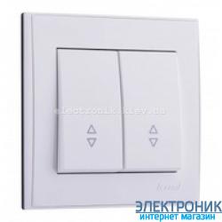 Выключатель проходной двойной, белый Lezard RAIN