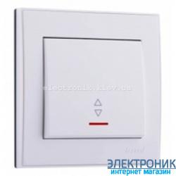 Выключатель проходной с подсветкой, белый Lezard RAIN