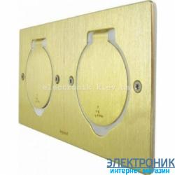 Лючок квадрат, 2 места на 2 модуля, цвет бронза металл Legrand