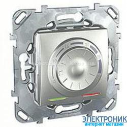 Schneider (Шнайдер) Unica алюминий электронный термостат 8А воздушный