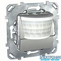 Schneider (Шнайдер) Unica алюминий ИК датчик движения 8A