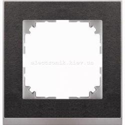 Рамка MERTEN M-PURE DECOR одинарная сланец/алюминий
