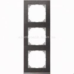 Рамка MERTEN M-PURE DECOR тройная сланец/алюминий
