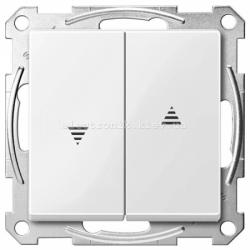 Выключатель Жалюзи Schneider Electric Merten System M полярно-белый