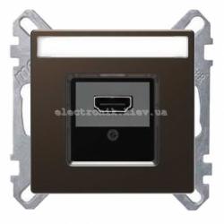 Розетка HDMI , цвет Мокка, Schneider Merten D-Life