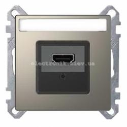 Розетка HDMI , цвет Никель, Schneider Merten D-Life