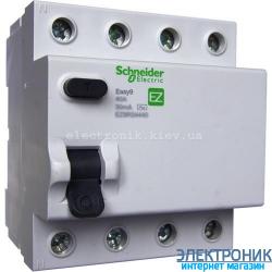 Устройство защитного отключения (УЗО) Schneider-Electric Easy9 4P 25A 30мA