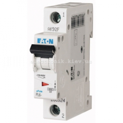 Автоматический выключатель Eaton однополюсный 25А PL6-C25/1
