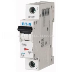 Автоматический выключатель Eaton однополюсный 63А PL6-C63/1