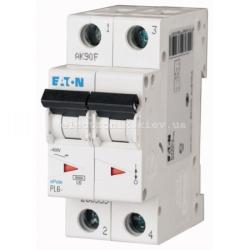 Автоматический выключатель Eaton двополюсный 63А PL6-C63/2