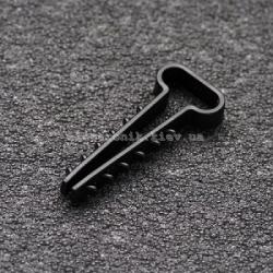 Дюбель-елочка (12х6) для плоских проводов черный APRO (упаковка 100шт)