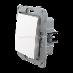 Кнопка-вимикач без фіксації одноклавішна LANK белый
