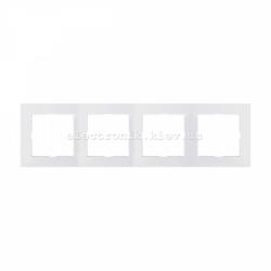 Рамка MERTEN M-PURE четверная полярно-белый