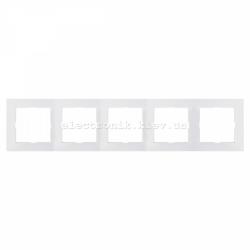 Рамка MERTEN M-PURE пятерная полярно-белый