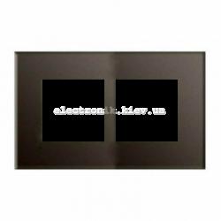 Рамка двойная ABВ Zenit стекло кофейное
