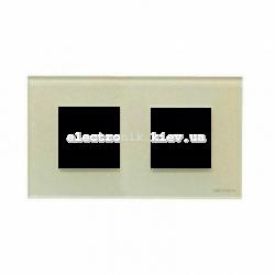 Рамка двойная ABВ Zenit жемчужное стекло