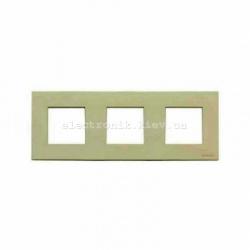 Рамка тройная ABВ Zenit жемчужное стекло