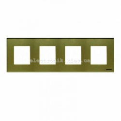 Рамка четверная ABВ Zenit жемчужное стекло