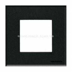 Рамка одинарная ABВ Zenit стекло графит