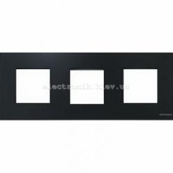 Рамка тройная ABВ Zenit стекло графит
