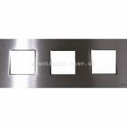 Рамка тройная ABВ Zenit сталь