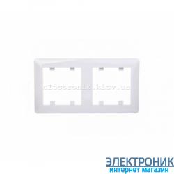 Рамка 2-двухкратная горизонтальная  Hager Lumina2 белая