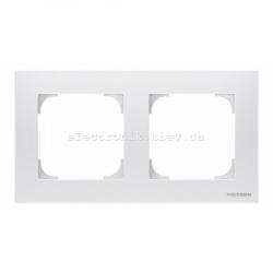 Рамка двойная ABB SKY белый